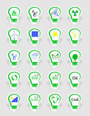 Concept, symbolizing the different types of energy — Stock Vector