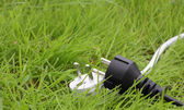 Switchplug lying on the grass — Stock Photo
