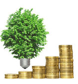 Concept, symbolizing the efficiency of environmental technologie — Stock Photo