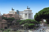 Monument Vittorio Emanuele II in Roma — Stock Photo