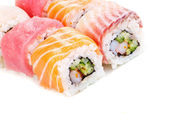 Rainbow Sushi with Cucumber and Cream Cheese — Stock Photo