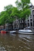 Amsterdam.Canals.View of Amsterdam. — Stock Photo