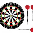Darts vector — Stock Photo