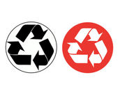 Vector recycle sign — Stock Photo