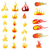 Fire Icons set vector — Stock Photo