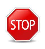 Ilustração em vetor de sinal stop — Foto Stock