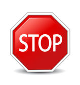 Vector illustration of Stop sign — Stock Photo
