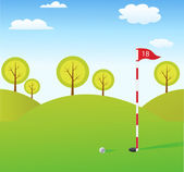 Golf background — Stock Photo