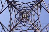 Transmission tower — 图库照片