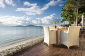 Seaside Table And Chairs — Stock Photo