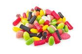 Cukierek kolorowy na białym tle — Zdjęcie stockowe