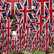 Flags in uk — Stock Photo