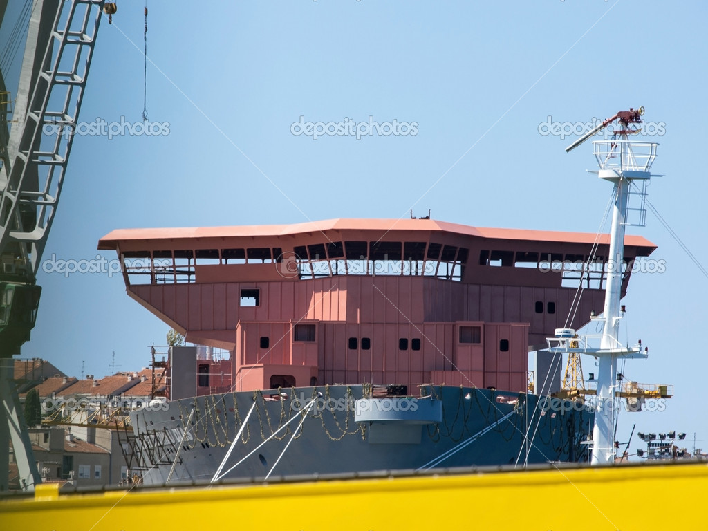 Boat in the shipyard — Stock Photo #12415606