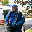 Stock Photo: Min chemical suit