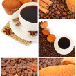 Coffee collage — Stock Photo #10797446