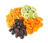 Dried fruits round — Stock Photo
