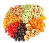 Dried fruits round — Stock Photo