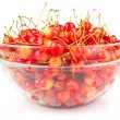 Cherries in bowl - Stock Photo