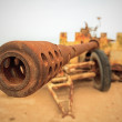 Rusted Military Anti-Tank Cannon Gun — Stock Photo #10763661