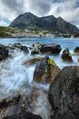 Widzenia seascape wyspy capri, włochy — Zdjęcie stockowe