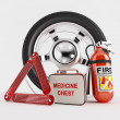 Car Emergency kit - Stock Photo