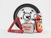 Car Emergency kit — Stock Photo