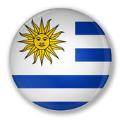 Badge with flag of Uruguay — Stock Photo