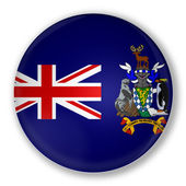 Badge with flag of South Georgia Island — Stock Photo