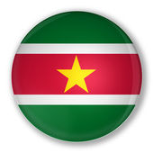 Badge with flag of Suriname — Stock Photo