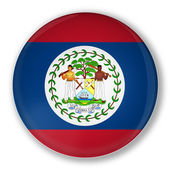 Badge with flag of Belize — Stock Photo