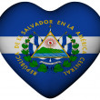Heart with flag of El Salvador — Stock Photo