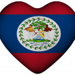 Heart with flag of Belize — Stock Photo