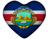 Heart with flag of Costa Rica — Stock Photo