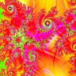 Stock Photo: Fractals swirls spirals