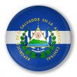Badge with flag of El Salvador — Stock Photo