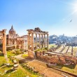 Roman ruins in Rome, Forum — Stock Photo