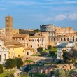 Forum and Coliseum in Rome - Stockfoto