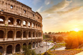 Coliseum at sunset — Foto Stock