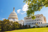 US Capitol and capitol hill — Stock Photo