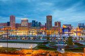 Baltimore at night — Stock Photo