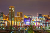 Baltimore at night — Stock Photo