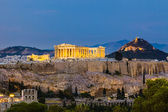View on Acropolis at night — Stock Photo