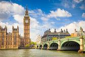 El big ben y casas del parlamento — Foto de Stock