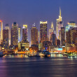 Manhattan's nachts — Stockfoto