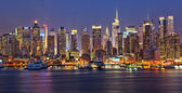 Manhattan at night — Foto Stock