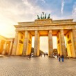 图库照片: Brandenburg gate at sunset