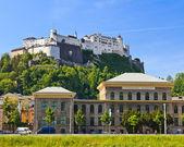 University and Hohensalzburg Fortress, Salzburg — Stock Photo