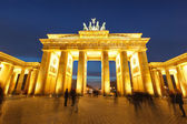 Brandenburg gate at night — Stockfoto