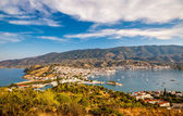 Aerial view on Poros and Galatos — Stock Photo