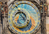 Astronomical clock on Town hall, Prague — Stock Photo